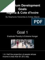 millennium development goals in nigeria 1