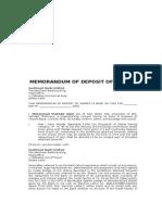 Memo Deposit of Shares.doc