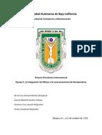 La Integración de México a la zona económica de Norteamérica.docx
