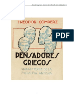 Gomperz, Theodor - Pensadores Griegos - Una Historia de la Filosofia Antigua - libro 1.doc