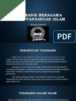 Toleransi Beragama Dalam Pandangan Islam
