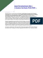 Sistem Informasi Inventarisasi Alat Barang Aset Kantor