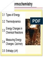 3 - Thermochemistry (3.1 - 3.2)