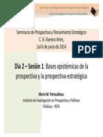 INTA Maria Mercedes PATROUILLEAU - Bases espitemicas de la prospectiva y la prospectiva estrategica (1).pdf