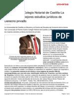 Premio Ilustre Colegio Notarial Castilla Mancha Mejores Estudios Juridicos Derecho Privado