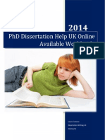 PhD Dissertation Help UK Online Available Worldwide
