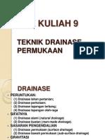 TOPIK KULIAH 9 Drainase Permukaan