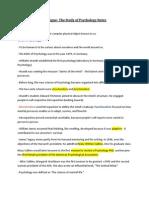 Psychology- Prologue Notes