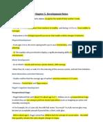 Psychology- Chapter 5 Development Notes
