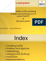 Presentation on Marketing Mix of Asian Paints (2)