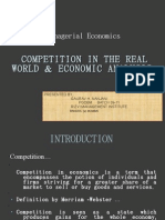 Competition in the Real World and Economic Analysis