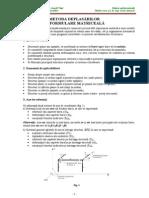Metoda Deplasarilor Anicai CFDP Iasi