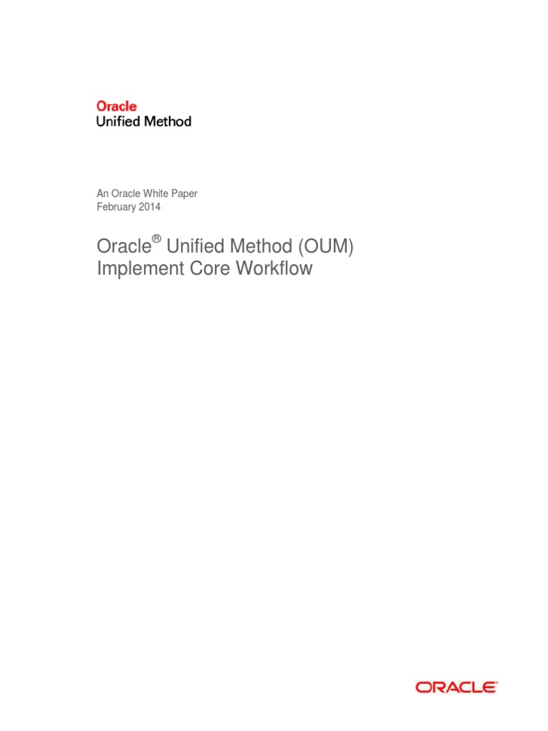 Oracle Unified Method Oum Implement Core Workflow Use Case