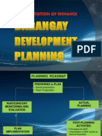 Barangay Development Plan, Presentation
