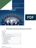 gems global leadership and management standards evidence sources per standard