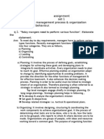 Assignment Set 1 Subject