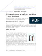 2) Health, Safety and Accident Prevention - Oxyacetylene Welding, Cutting and Heating (1)