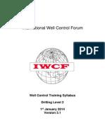 IWCF Well Control Training Level 2 Syllabus