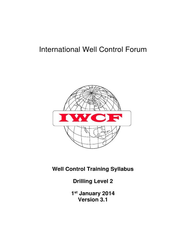 IWCF Well Control Training Level 2 Syllabus | Geotechnical Engineering |  Civil Engineering
