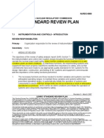 Standard review plan on Instrumentation and control