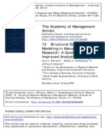 Structural Equation Modeling in Management Research - A Guide for Improved Analysis (Larry J. Williams, Robert J. Vandenberg & Jeffrey R. Edwards) (Academy of Mangement Annals, 2009)