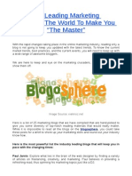 The Leading Marketing Blogs of the World to Make You the Master