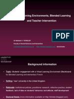 VLEs, Blended Learning and Teacher Intervention