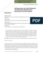 Cultivating Social Resources on Social Network Sites - Facebook Relationship Maintenance Behaviors and Their Role in Social Capital Processes