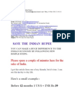 Save Our Rupee