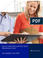 How to Improve Perf Db Maintenace