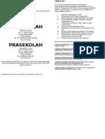Fliers Prasekolah
