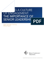 Building a Culture- The Importance of Senior Leadership