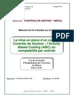 La mise en place dun outil de contrôle de gestionlActivity Based Costing ABC ou comptabilité par .PDF