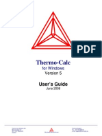Thermo-calc 5.0 Usersguide