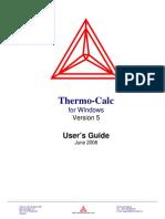 Thermo-calc 5.0 Usersguide