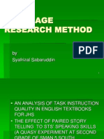 Language Research Method