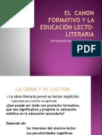 El  canon formativo y la educación lecto-literaria.pptx