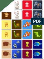 Memory Para Imprimir Animales