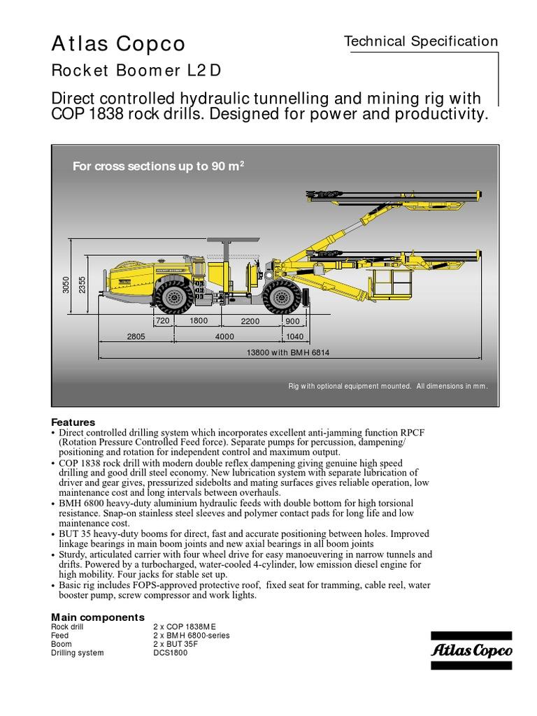 boomer l2d pdf drilling rig bearing mechanical