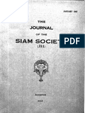 The Journal of the Siam Society Vol  Liii Part 1-2-1965