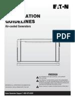 Installation Manual.egenX Air Cooled Generators
