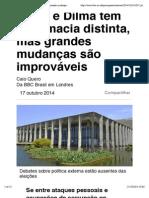Aécio e Dilma têm diplomacia distinta, mas grandes mudanças são improváveis - BBC Brasil