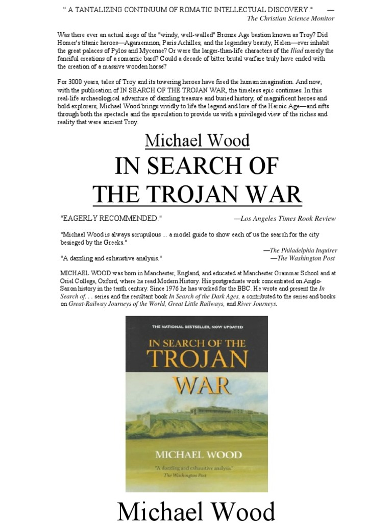 in search of the trojan war troy homer