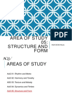 areas of study structure and form