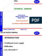 Solar Powered Water Pumping