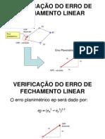 VERIFICAÇÃO DO ERRO DE FECHAMENTO LINEAR.ppt