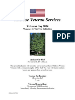 Melrose Veterans Day 2014 Flyer
