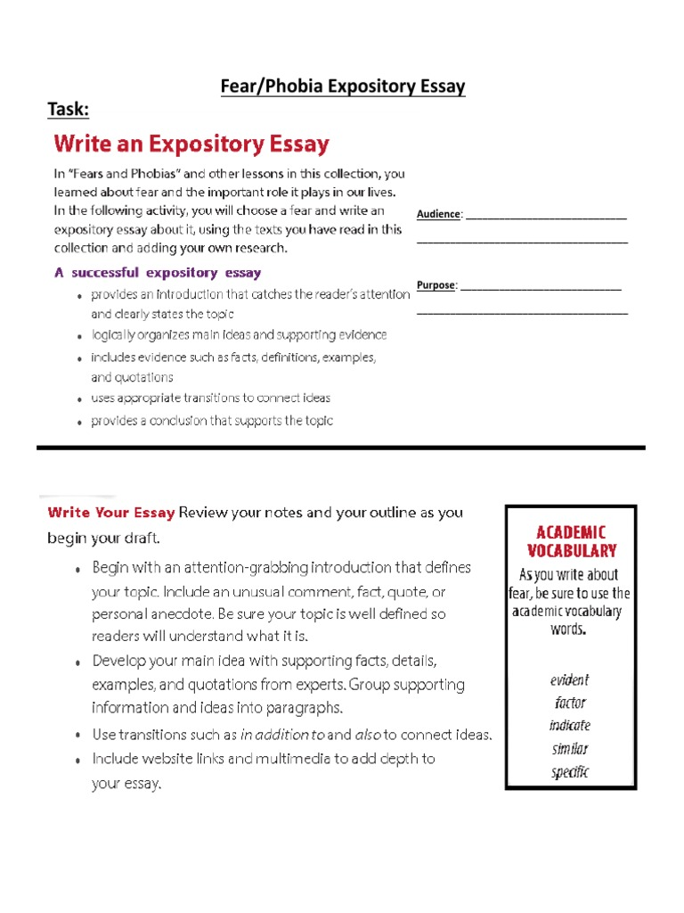 fear of essay writing phobia