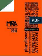 Carta Programa Resgate 2015