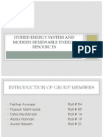 Hybrid Energy System and Modern Renewable Energy Resources (2)
